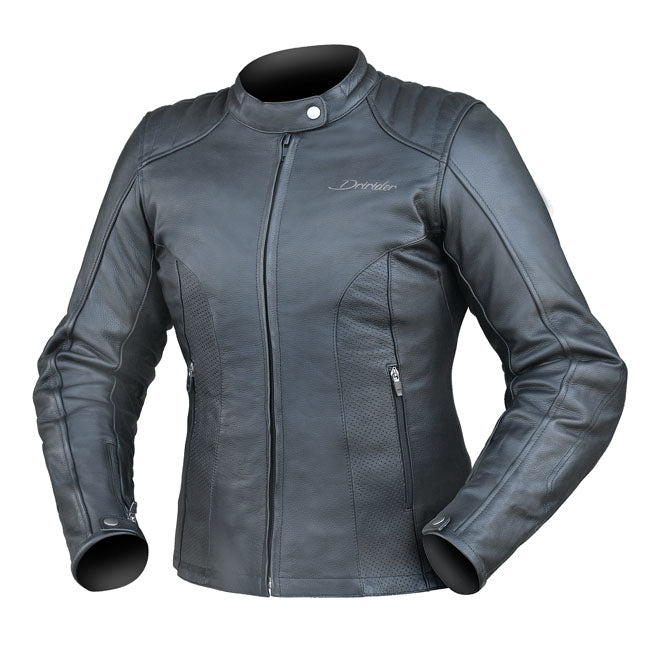 Jacket: DRIRIDER Ladies PARIS LEATHER Black