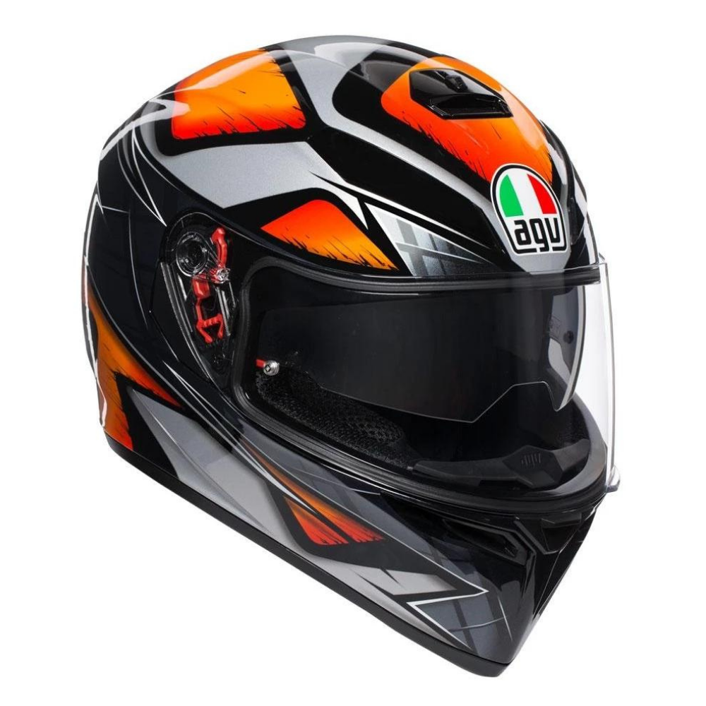 Helmet: AGV K-3 SV LIQUEFY Black/Orange