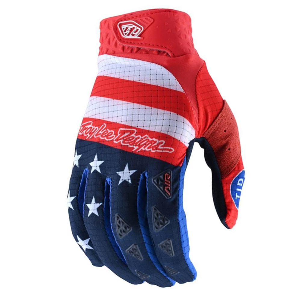Gloves: TROY LEE DESIGNS 2021 AIR STARS & STRIPES Red/Blue