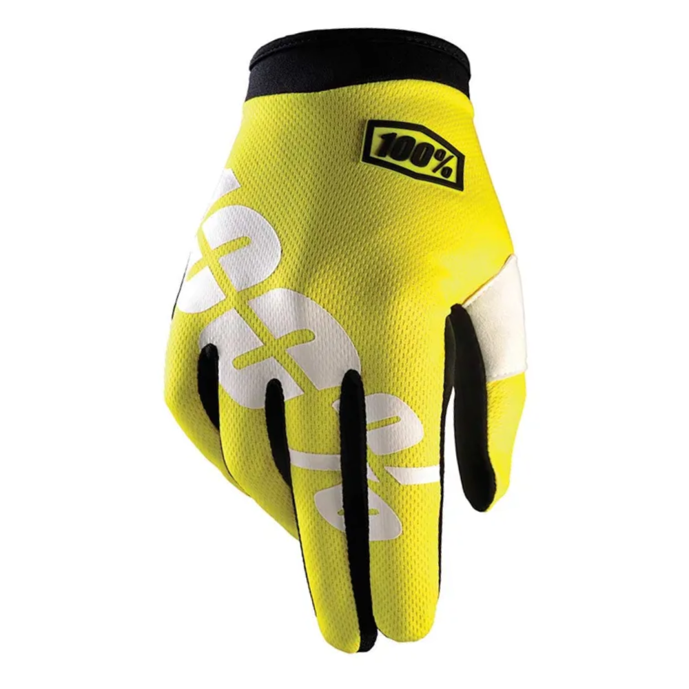Gloves: 100% iTRACK Neon Yellow