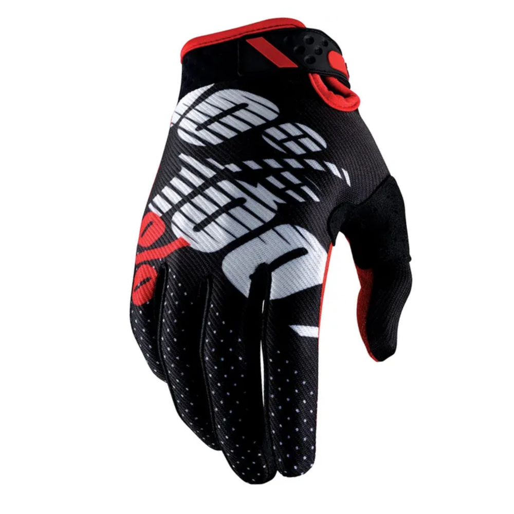 Gloves: 100% RIDEFIT Black/Red