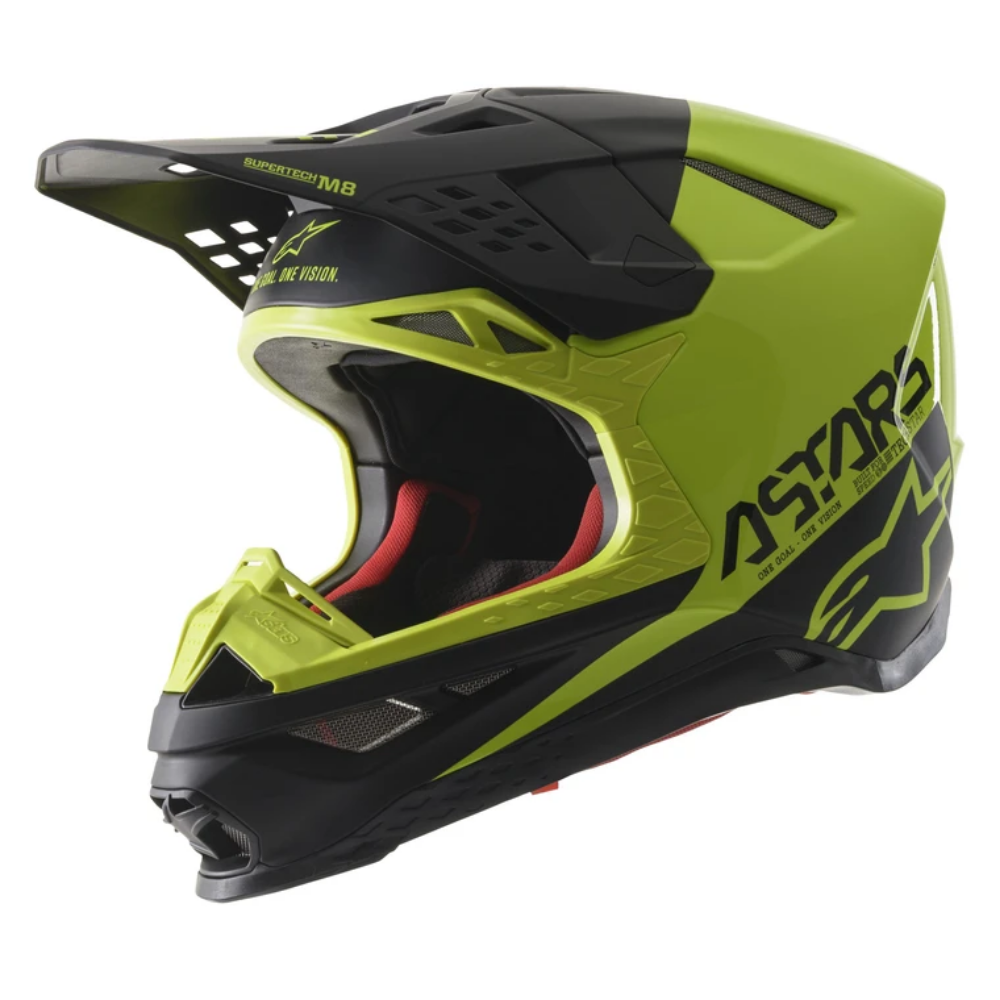 Helmet: ALPINESTARS SUPERTECH SM8 ECHO ECE Black/YellowFluro