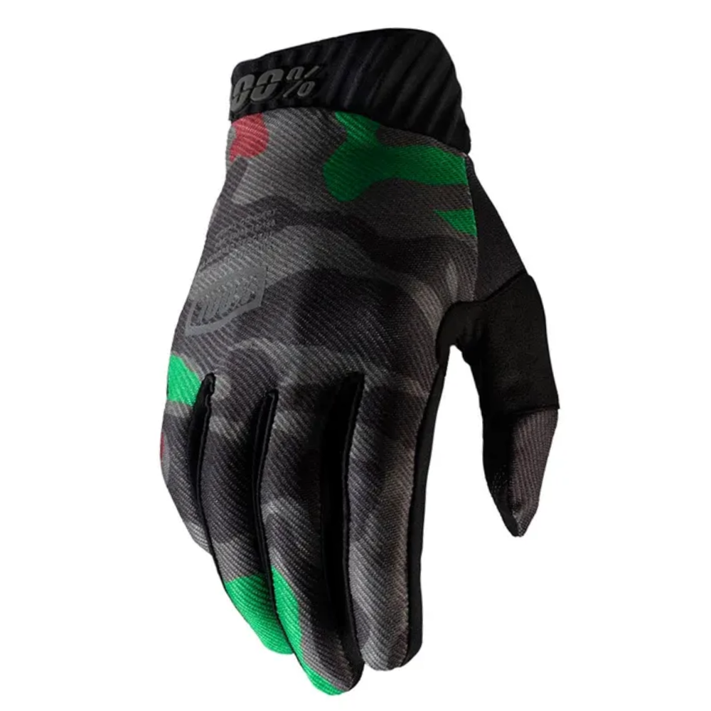 Gloves: 100% RIDEFIT Black Camo