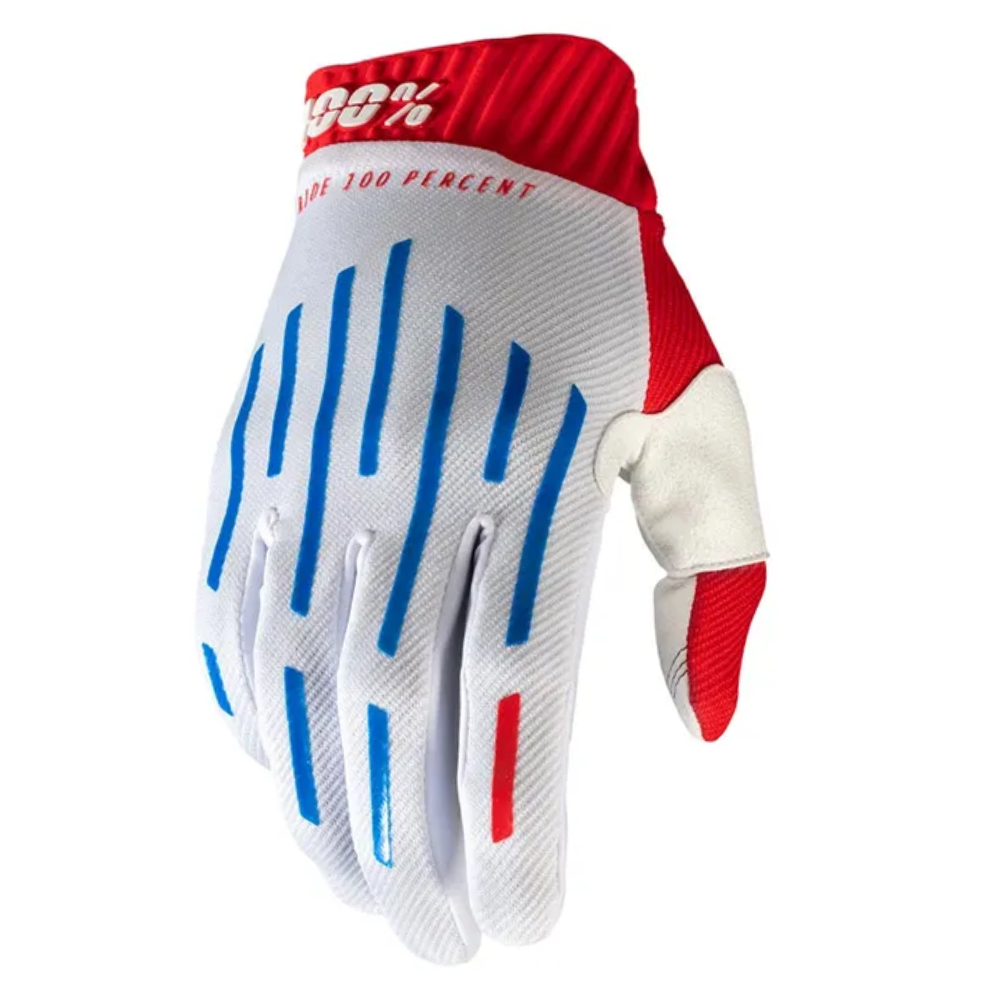 Gloves: 100% RIDEFIT Red/White/Blue