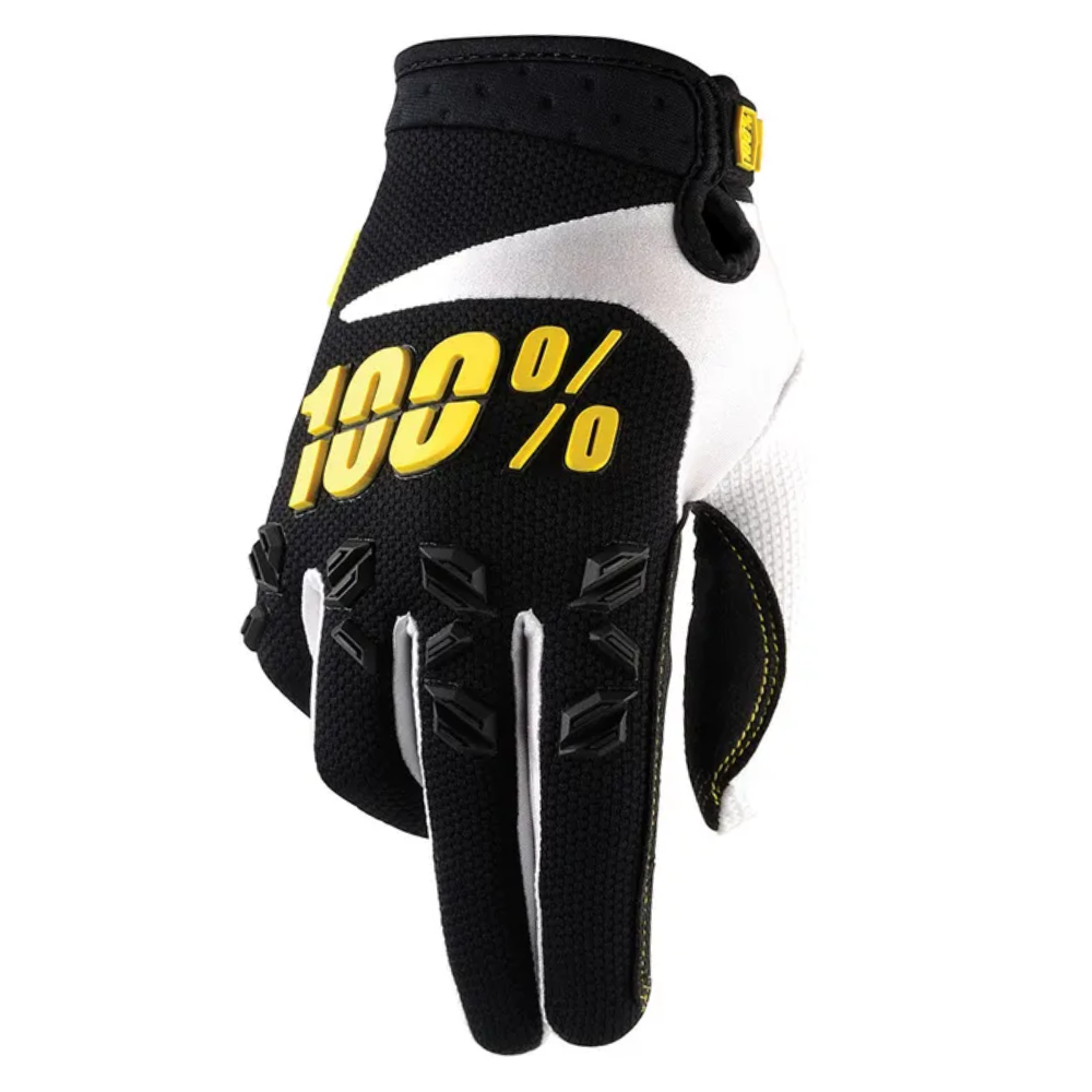 Gloves: 100% AIRMATIC Yellow/Black
