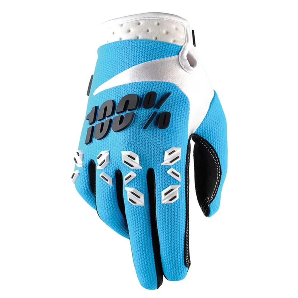 Gloves: 100% AIRMATIC Blue