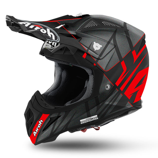 Helmet: AIROH AVIATOR 2.2 STYLING Red Matt