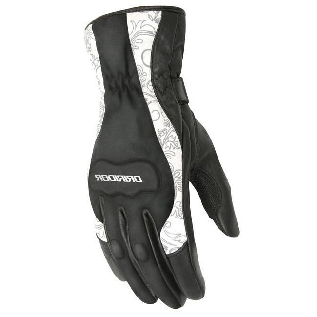 Gloves: DRIRIDER VIVID 2 Ladies Black/White