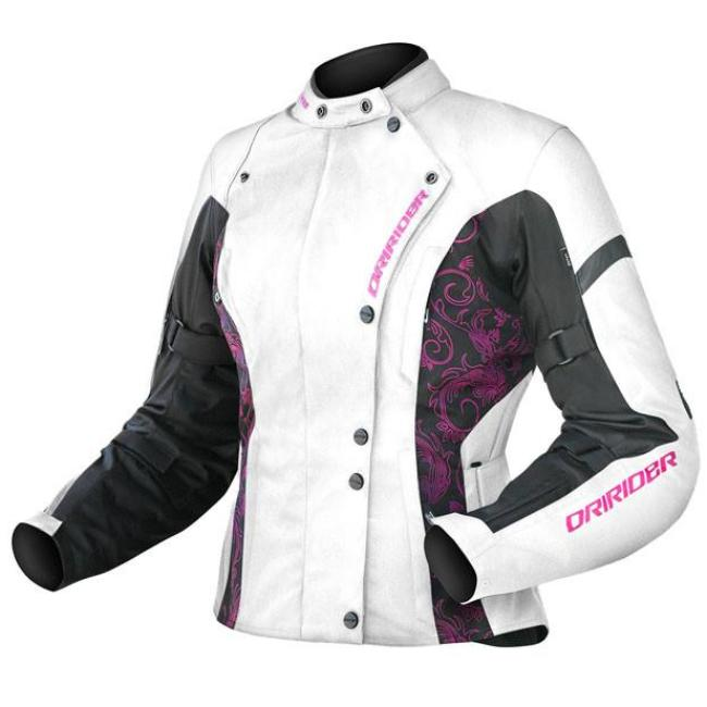 Jacket: DRIRIDER Ladies VIVID White/Pink
