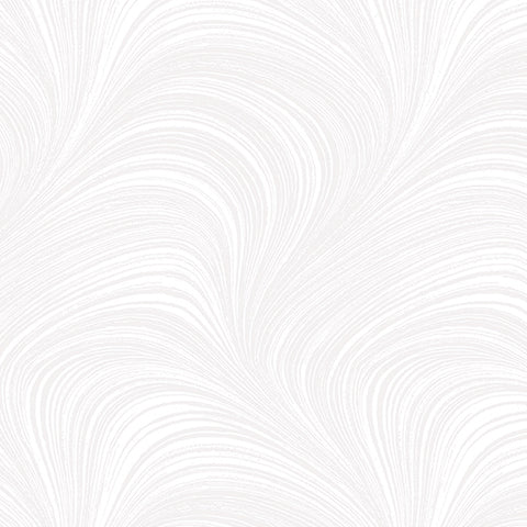 Backing Fabric - Wave Texture - White - 2966-09