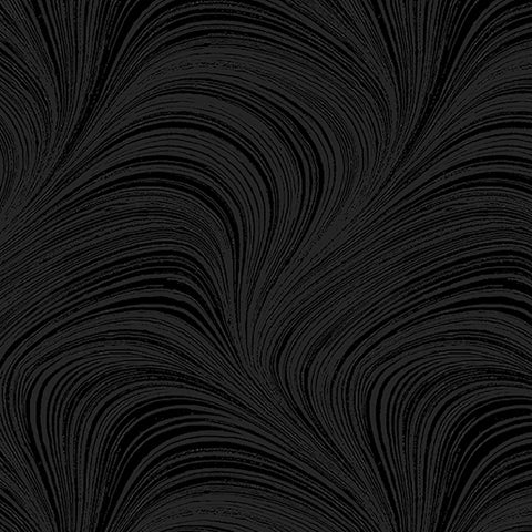 Backing Fabric - Wave Texture - Black - 2966-12