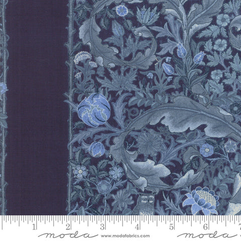 May Morris Studio 7344 17 The Owl 1895 Indigo Strip