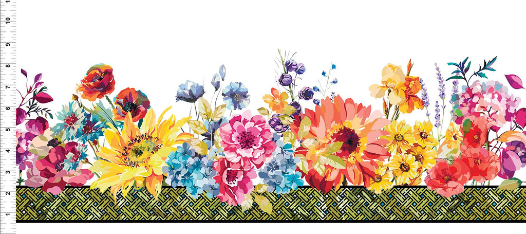 Hummingbird Lane  Border Print Multi 3HL1