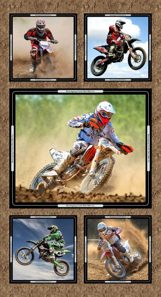 Dirt Bikes Collage Panel 7091