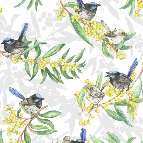 Gumtree Friends Blue Wrens allover 7118A