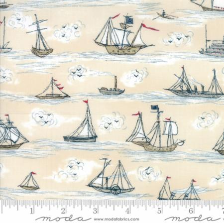 Moda Ahoy Me Hearties Multi - Ships - 1432 14