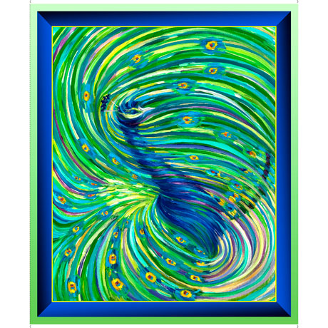 Artworks XI - Ombre Peacock Panel - 26985-X