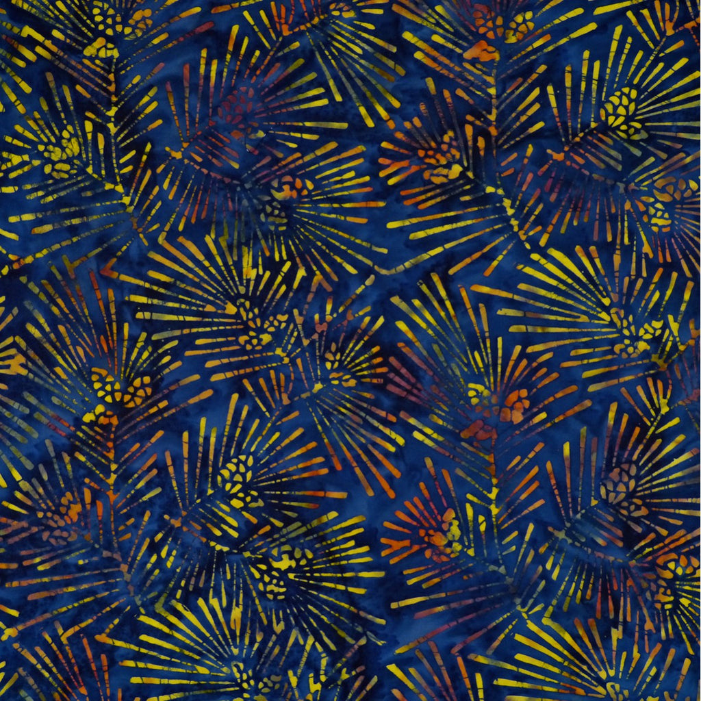 Batik -Winter Collection 2018 -Emporium - FK-5-9458 blue background orange lines