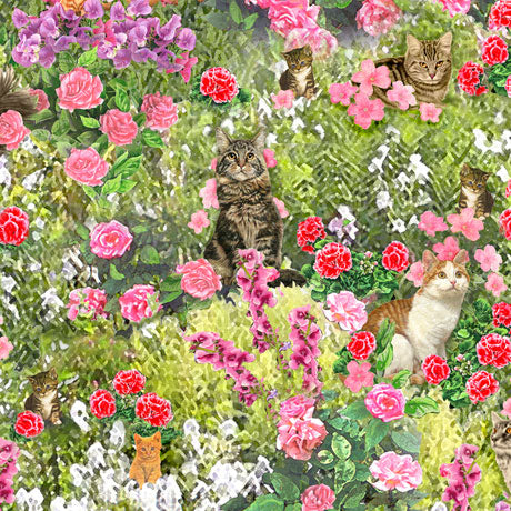 Fancy Felines - Cats in Garden - 27037-X