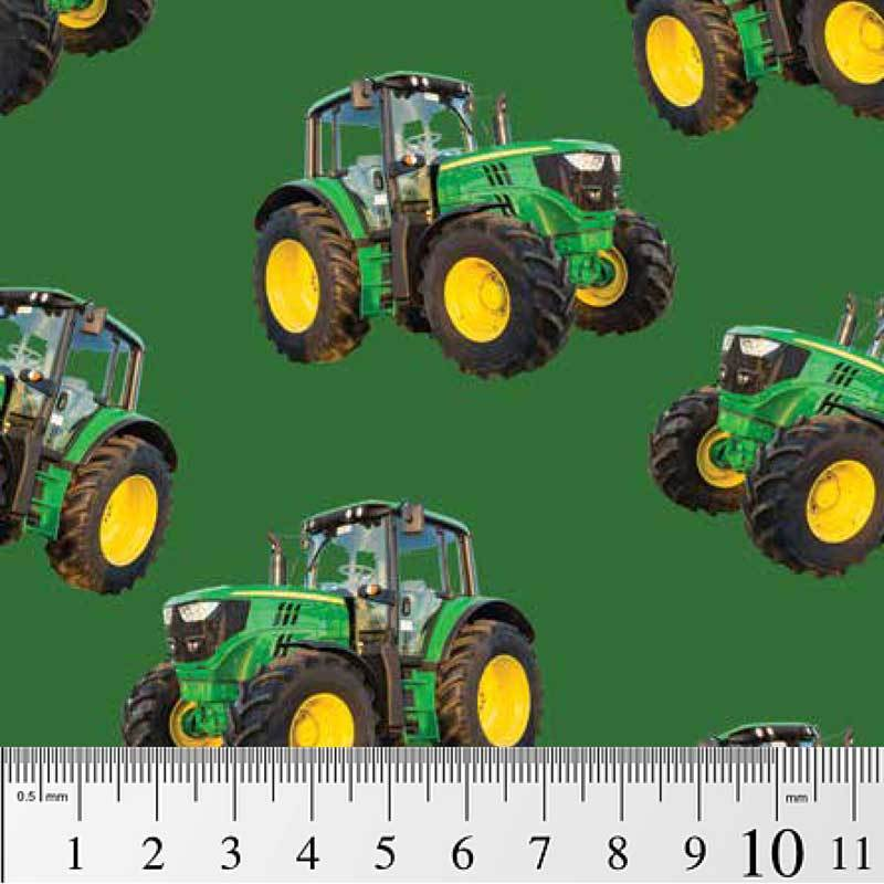Green Tractors on a Solid Green background 7105H John Deere