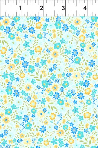 In the Beginning Garden Delights  2 - Blue & Yellow Flowers - 8GSF-3