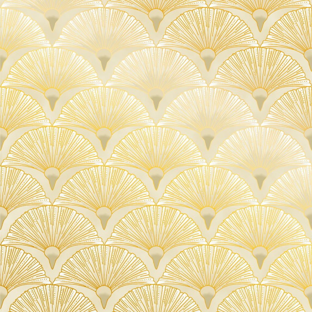Leesa Chandlers Melba Fan fabric in cream with gold embellishments - 0005 11
