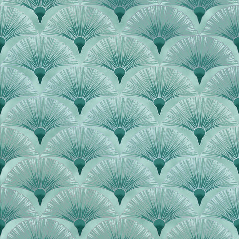 Leesa Chandler - Melba - Fan - Teal - 0005 14