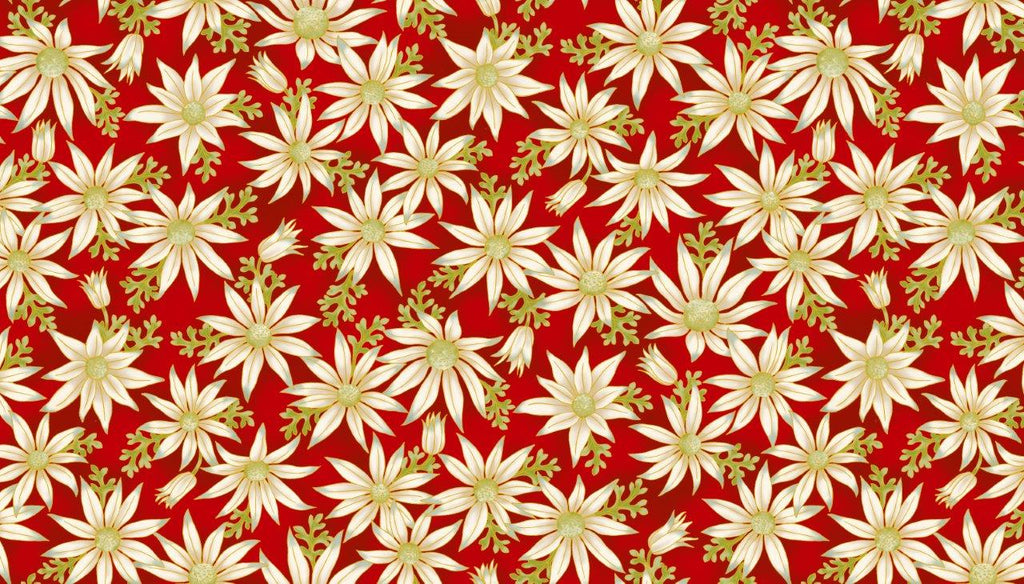 Leesa Chandler - Under the Australian Sun - Flannel Flowers Red - 0015 1