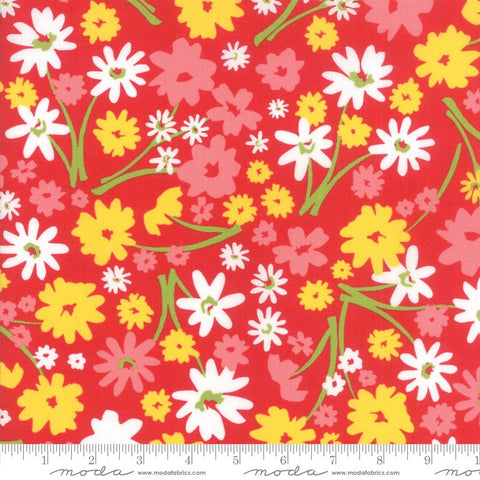 Mamas Cottage - April Rosenthal Floral Flower Patch Apple Red - 24050 23