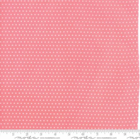 Mamas Cottage - April Rosenthal Floral Sparkle Pink Dots - Guava - 24057 17