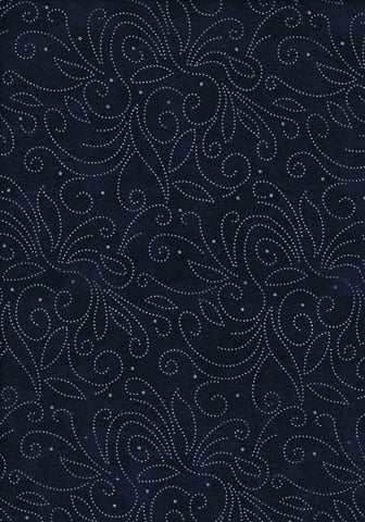 Backing Fabric - Marble Scroll - Navy - K1002N