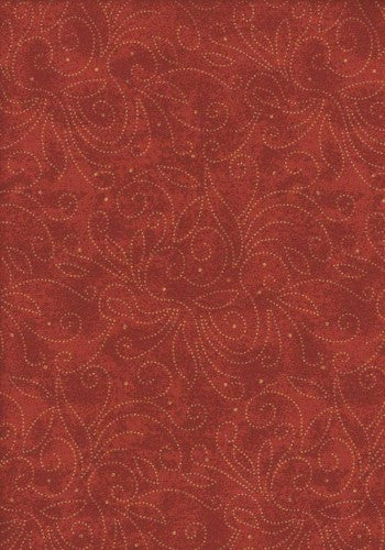 Backing Fabric - Marble Scroll Red - K1002R