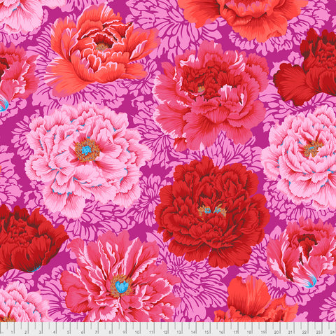 Kaffe Fassett Collective - Brocade Peony - Hot - PWPJO62.Hot