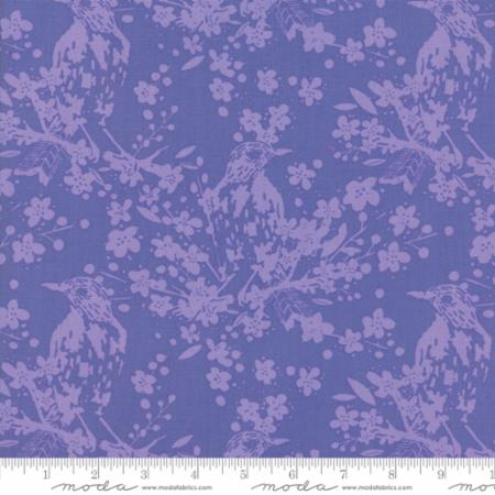 Painted Garden - Crystal Manning Floral Bird Songs Purple - Hyacinth - 11811 21