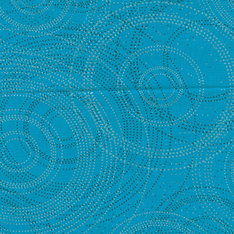 Pearl Reflections - Beaded Circles - Teal - 9004/6484