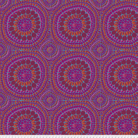 Backing Fabric - Kaffe Fassett - 2019 Kaffe - Fruit Mandala-Pink - QBGP003 -2Pink