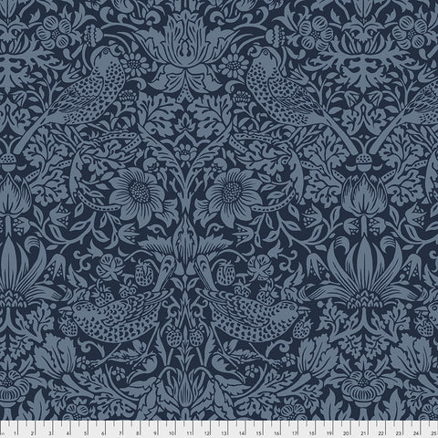 Backing Fabric Strawberry Thief QBWM001 Navy