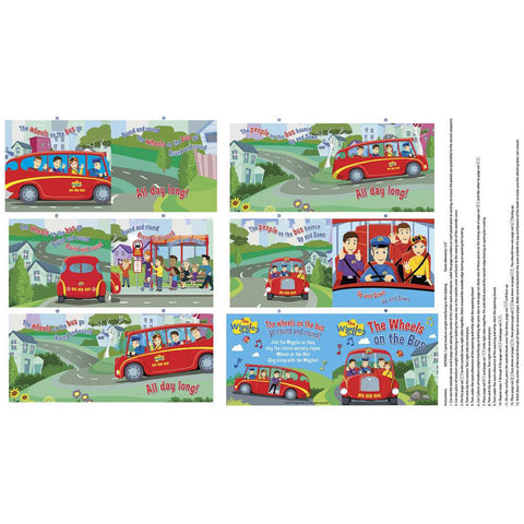 Ready, Steady, Wiggles! Wheels on the Bus Soft Book Panel - P8547