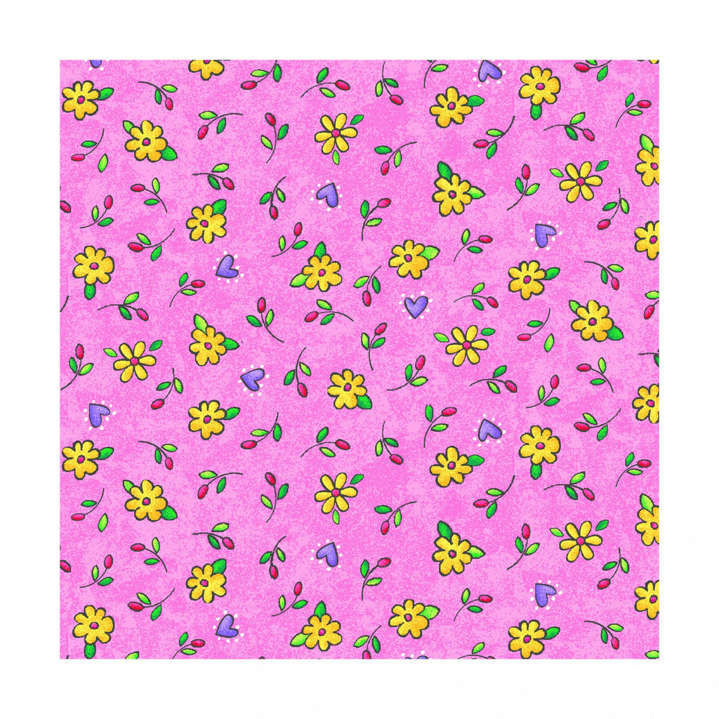 Sunny Days - Floral Allover - Pink - P215-0315-356
