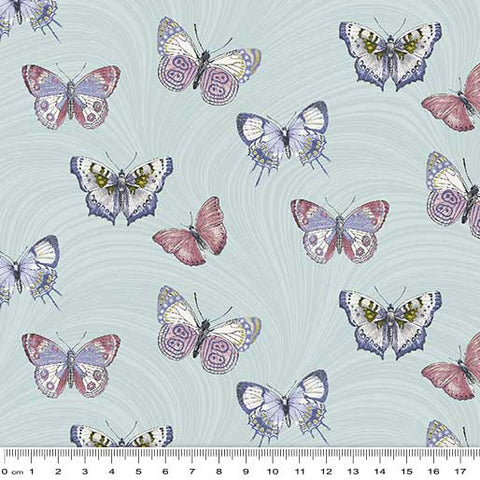 Totally Tulips Butterfly Wave Light Teal 9011 3304