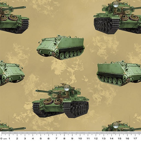 Remembering Vietnam  - Armoured Personnel Carrier and Tanks Beige - 7117 V7
