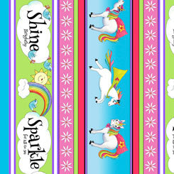 Party Like a Unicorn Decorative Stripe 26910 -X