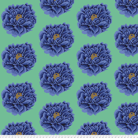 Backing Fabric - Kaffe Fassett -Fall 2018 - Full Bloom - Blue - QBGP004 -2 Blue
