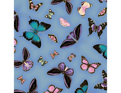 Leesa Chandler - Under the Australian Sun - Butterflies Blue Purple- 0025 19