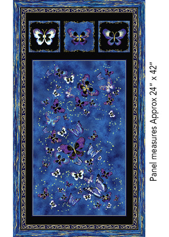 Butterfly Jewel Panel Panel Royal -  8859M-55