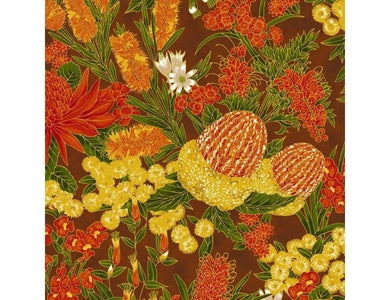 Leesa Chandler - Under the Australian Sun - Floral Orange Brown - 0013 18