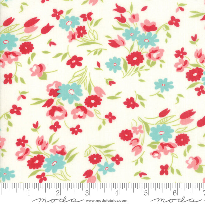 Little Snippets Vintage Floral Cream - 55182 15