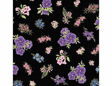 Leesa Chandler - Under the Australian Sun - Floral Purple Black - 0017 20