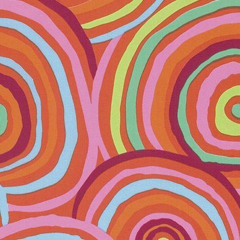 Backing Fabric - Kaffe Fassett - Circles - Red- QBGP002 - Redxx