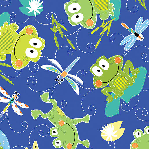 Toadily Cute Hop Along Frogs Blue 90613755